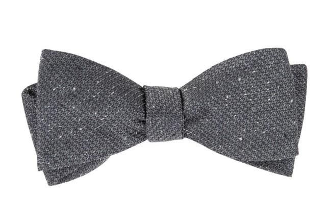 Five Star Solid Grey Bow Tie