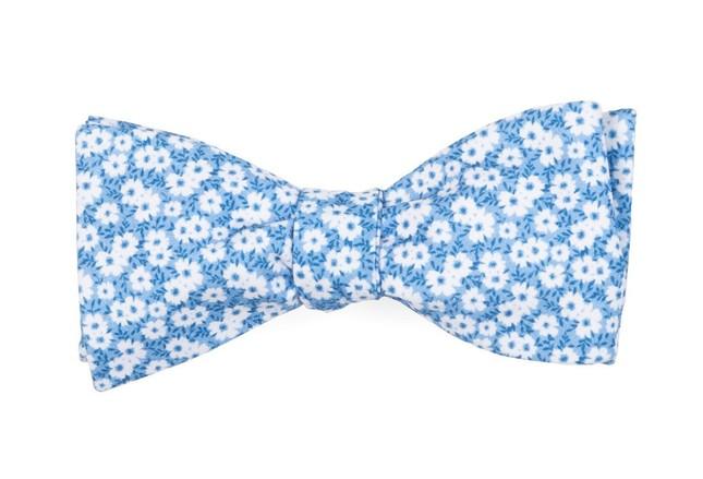 Alfresco Floral Light Blue Bow Tie