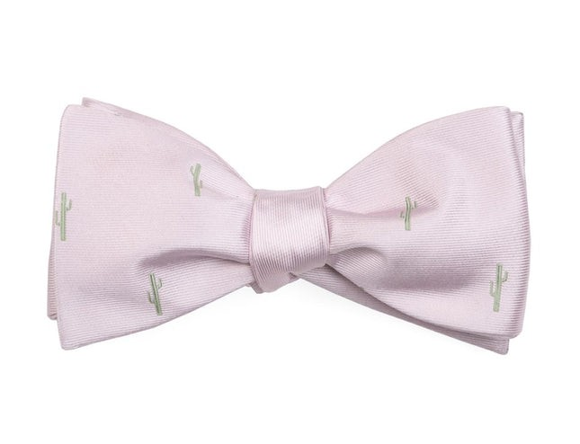 Mumu Weddings - Cactus Blush Pink Bow Tie