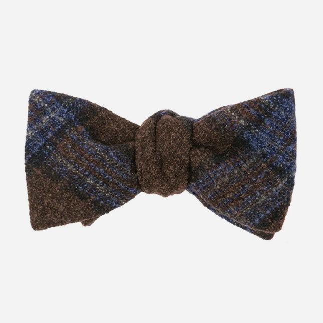 Barberis Wool Maschile Brown Bow Tie