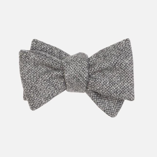 Barberis Wool Vestito Grey Bow Tie