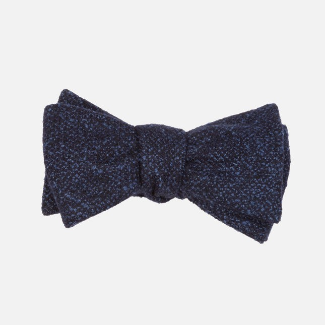 Barberis Wool Vestito Navy Bow Tie