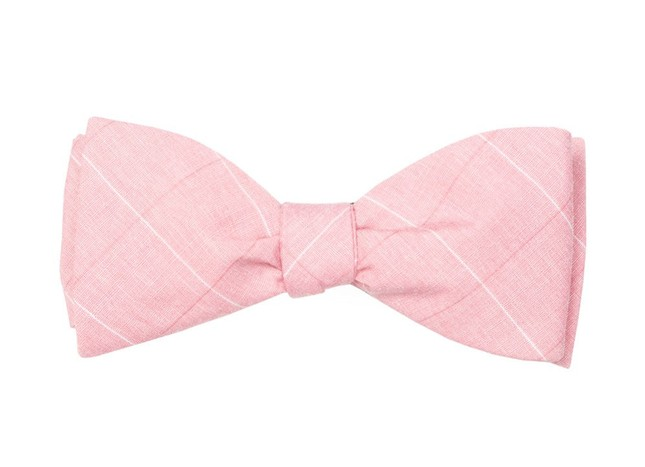 Daybreak Checks Pink Bow Tie