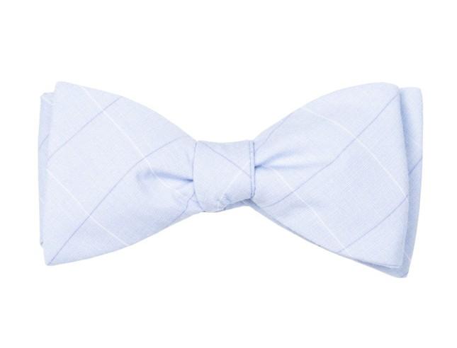 Daybreak Checks Light Blue Bow Tie
