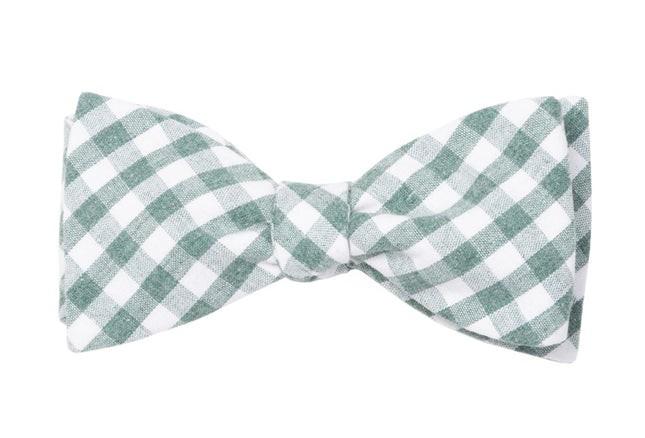 Yacht Checks Green Bow Tie