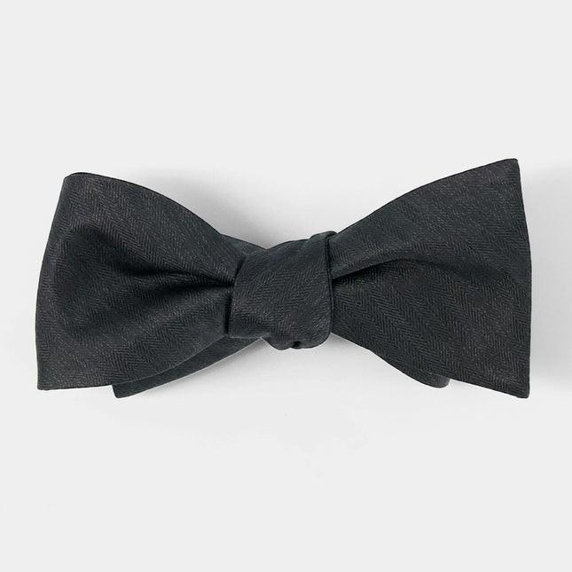 Mumu Weddings - Desert Solid Black Bow Tie