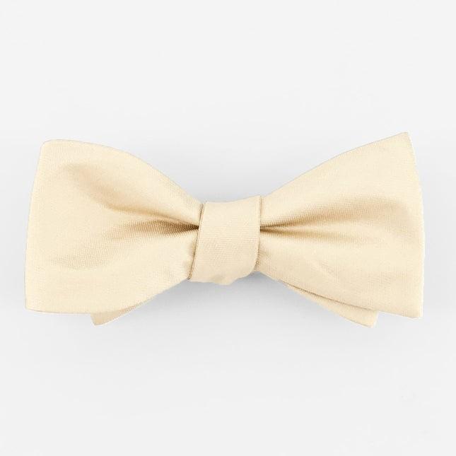 Mumu Weddings - Desert Solid Champagne Bow Tie