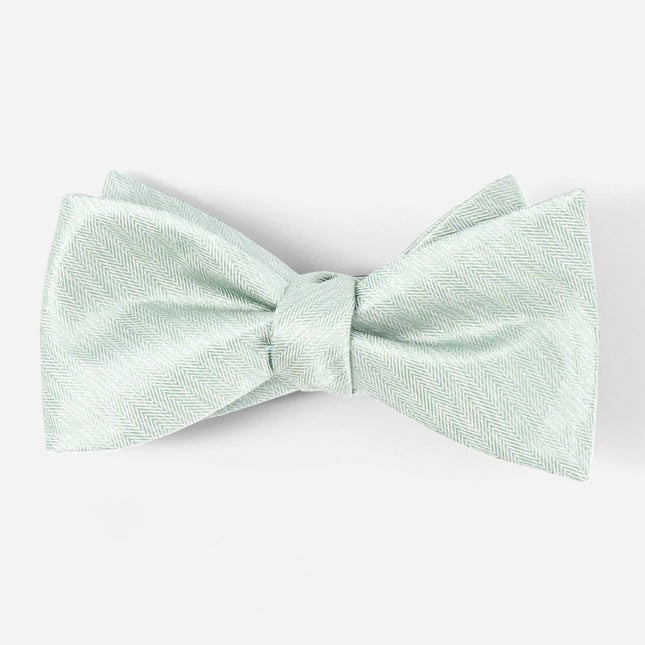 Mumu Weddings - Desert Solid Silver Sage Bow Tie