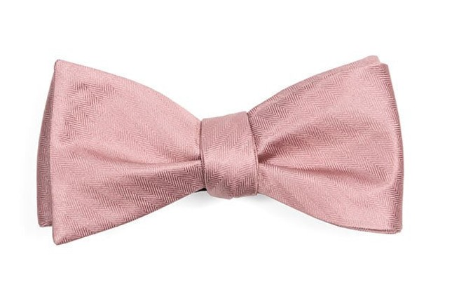 Mumu Weddings - Desert Solid Antique Rose Bow Tie