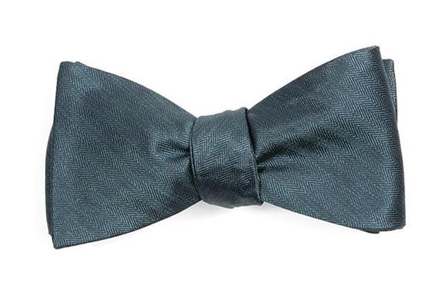 Mumu Weddings - Desert Solid Deep Jade Bow Tie