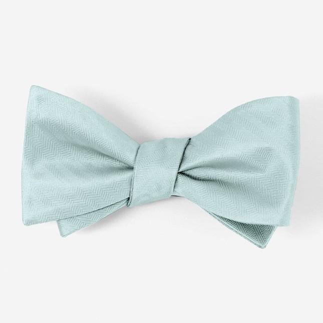 Mumu Weddings - Desert Solid Icy Blue Bow Tie