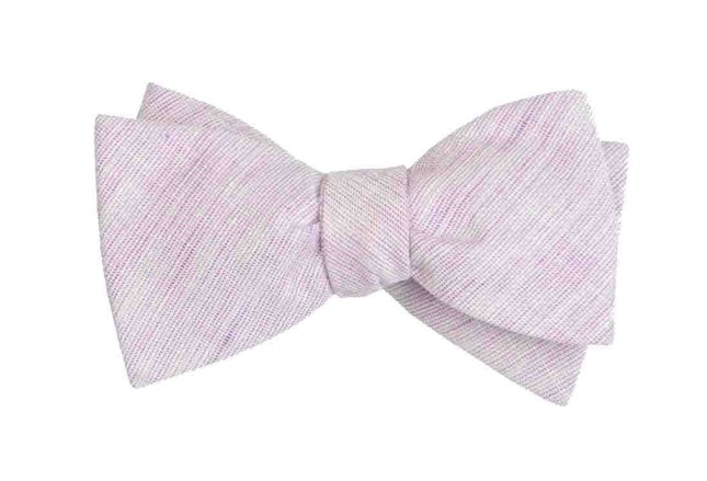 Serenity Solid Lavender Bow Tie