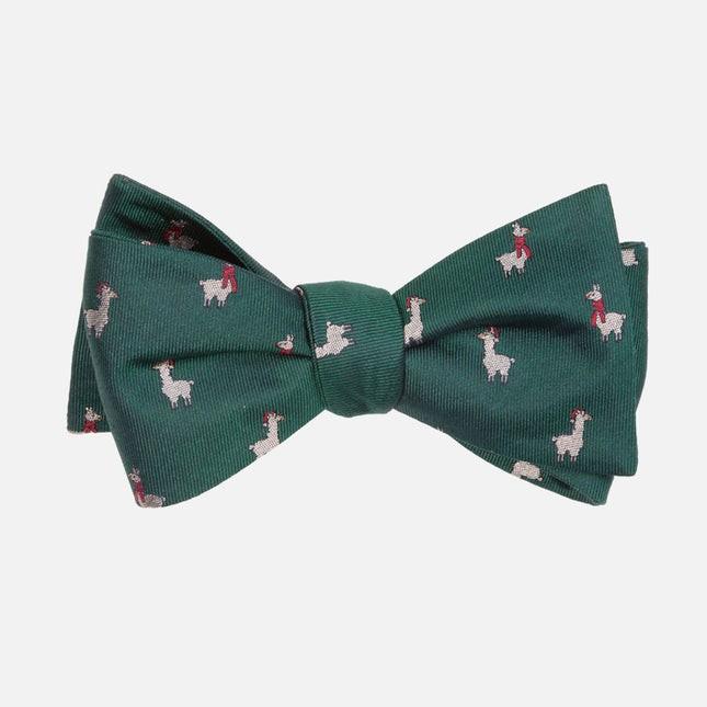 Fa-La Llama Hunter Green Bow Tie