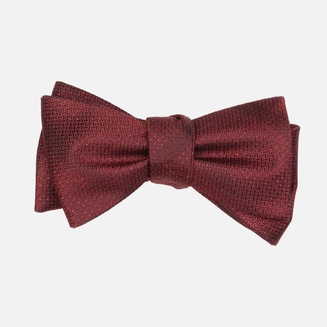 Glimmer Burgundy Bow Tie