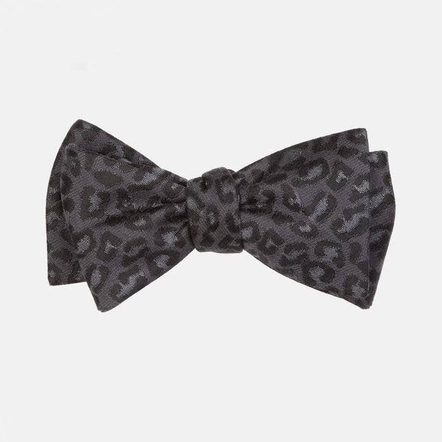 Tonal Leopard Black Bow Tie