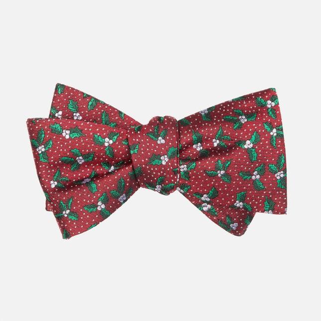 Under The Mistletoe Burgundy Bow Tie