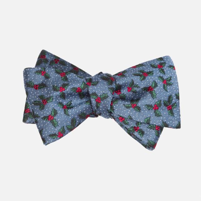 Under The Mistletoe Light Blue Bow Tie