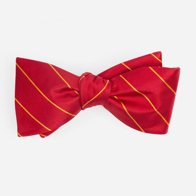 Pencil Glimmer Pinstripe Red Bow Tie