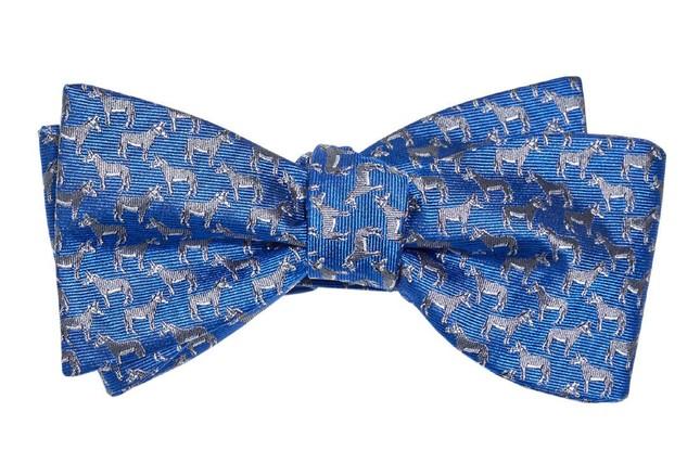 Democratic Donkey Classic Blue Bow Tie