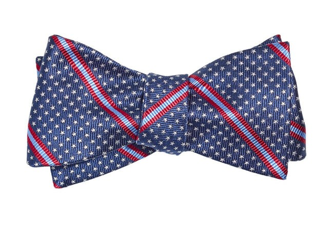 Stars And Stripes Navy Bow Tie