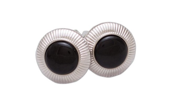 Black Orb Cufflinks
