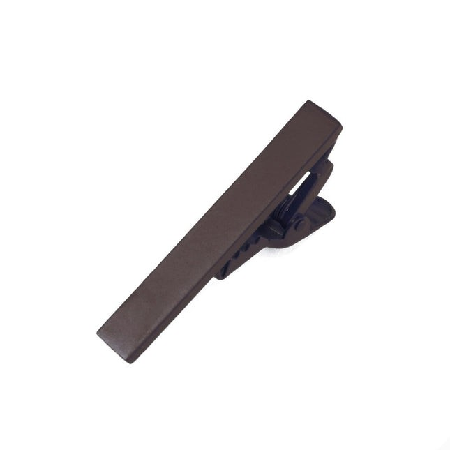 Matte Color Chocolate Brown Tie Bar