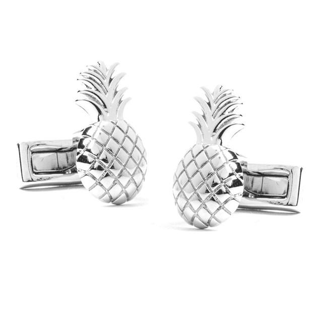Pineapple Farm Silver Cufflinks