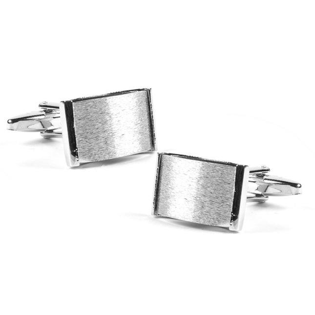 Matte Arch Silver Cufflinks