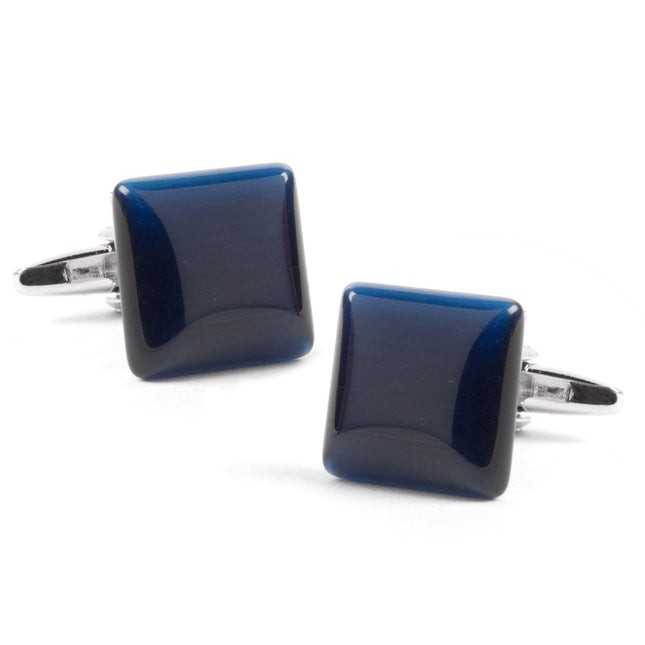 Deep Blue Square Cufflinks