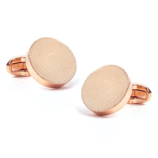 Textured Dial Rose Gold Cufflinks