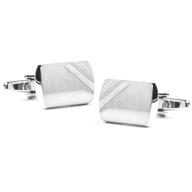Corner Office Silver Cufflinks