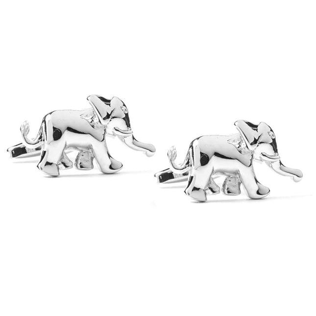 Elephant Stride Silver Cufflinks