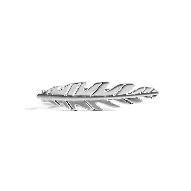 Tropic Leaf Silver Tie Bar