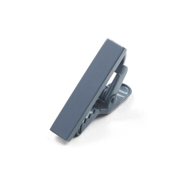 Matte Color Slate Blue Tie Bar