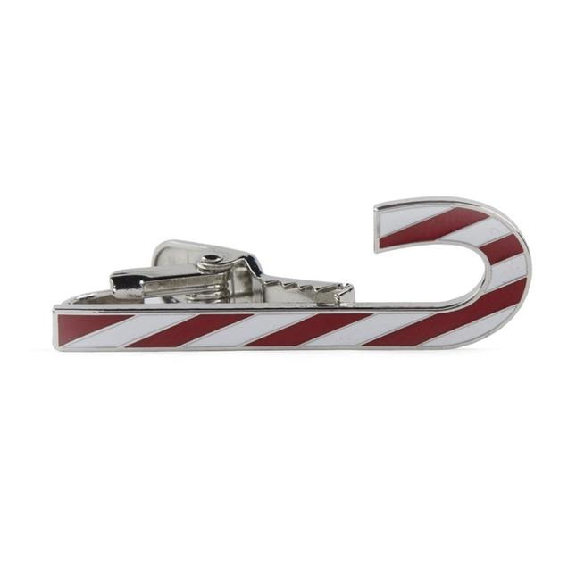 Candy Cane Silver Tie Bar