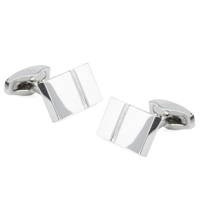 Bricked Silver Cufflinks