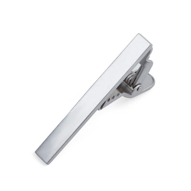 Metallic Color Silver Tie Bar