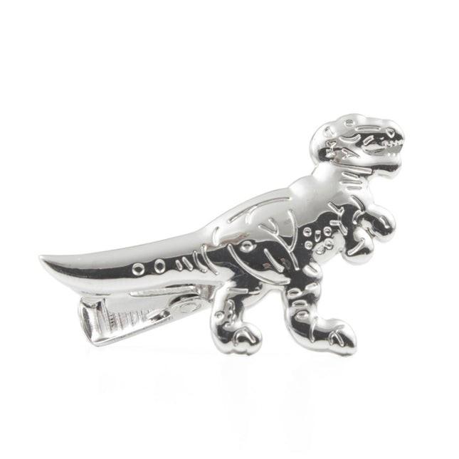 Dinosaur Silver Tie Bar