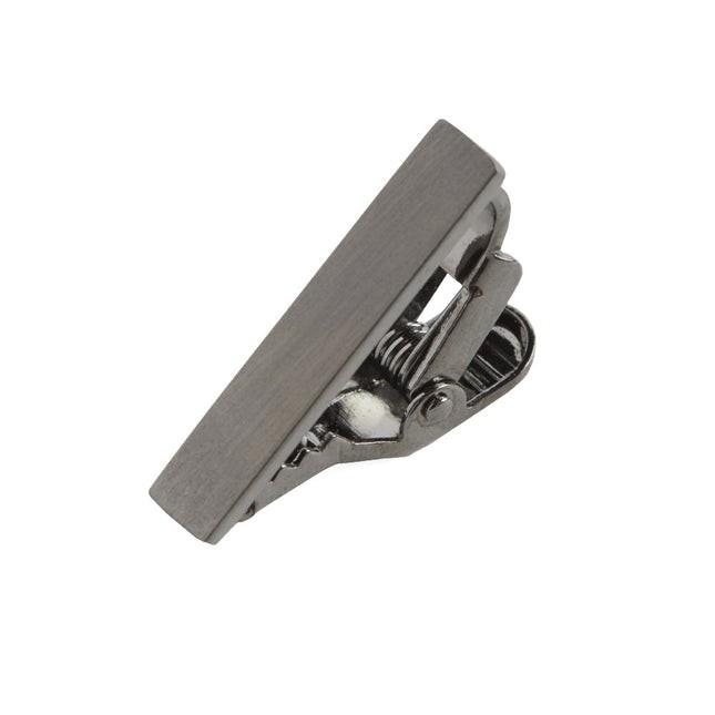 Brushed Straight Gun Metal Tie Bar