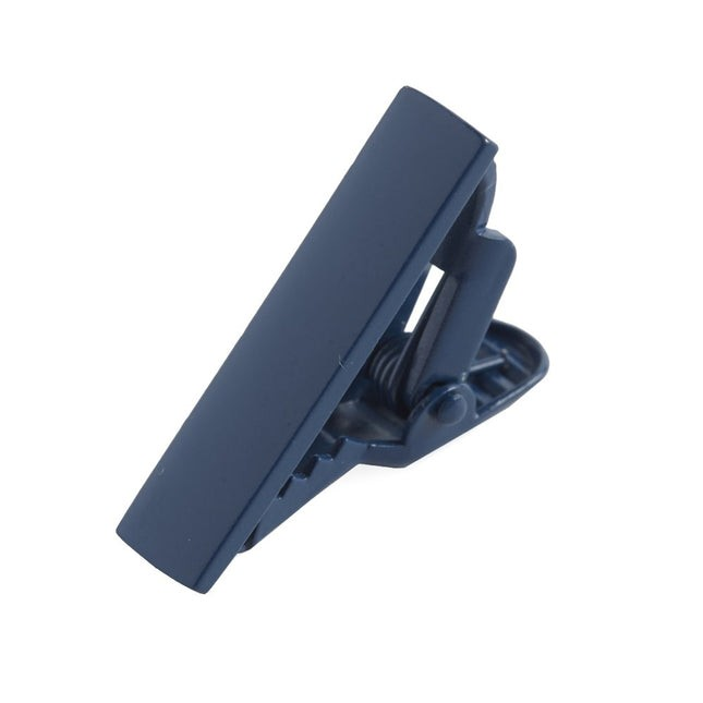 Matte Color Navy Tie Bar