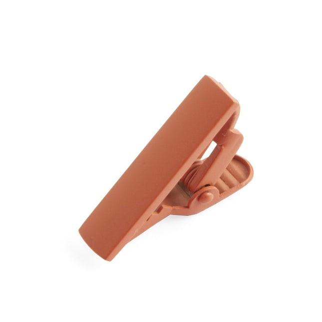Matte Color Burnt Orange Tie Bar
