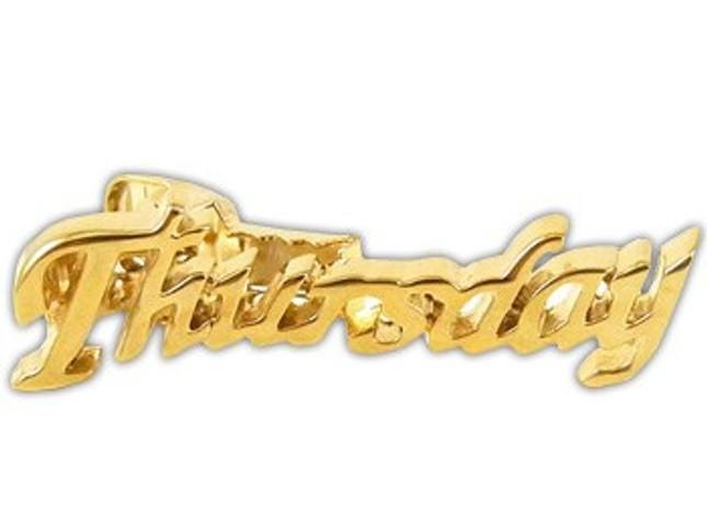 Thursday Gold Tie Bar