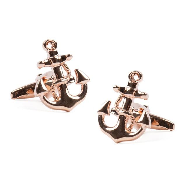 Anchor's Away Rose Gold Cufflinks