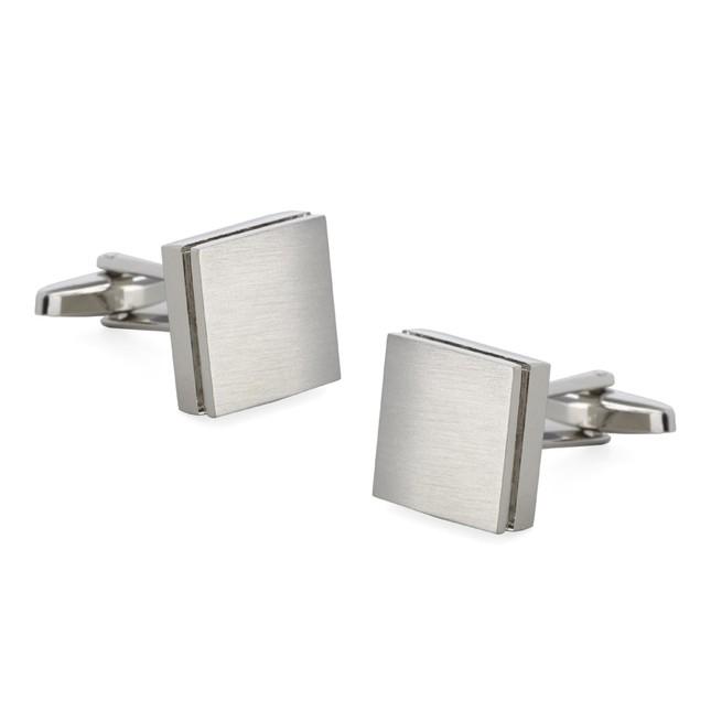 Textured Sweep Silver Cufflinks