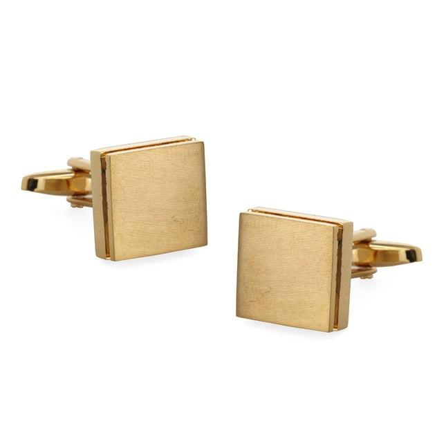Textured Sweep Gold Cufflinks