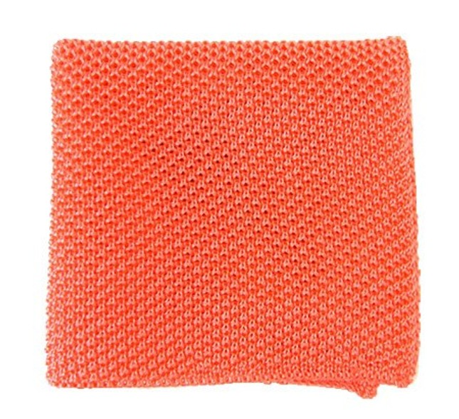 Solid Knit Coral Pocket Square