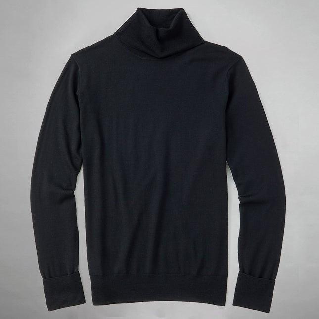Perfect Merino Wool Black Turtleneck Sweater