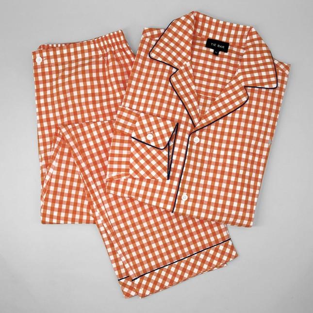 Orange Gingham Pajama Set