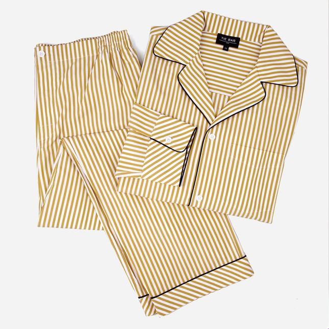 Khaki Stripe Pajama Set