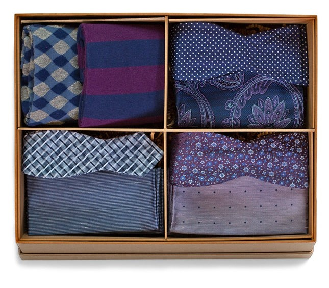 The Purple And Navy Style Box Gift Set
